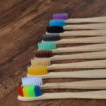 Natural bamboo toothbrush for adult, mix color