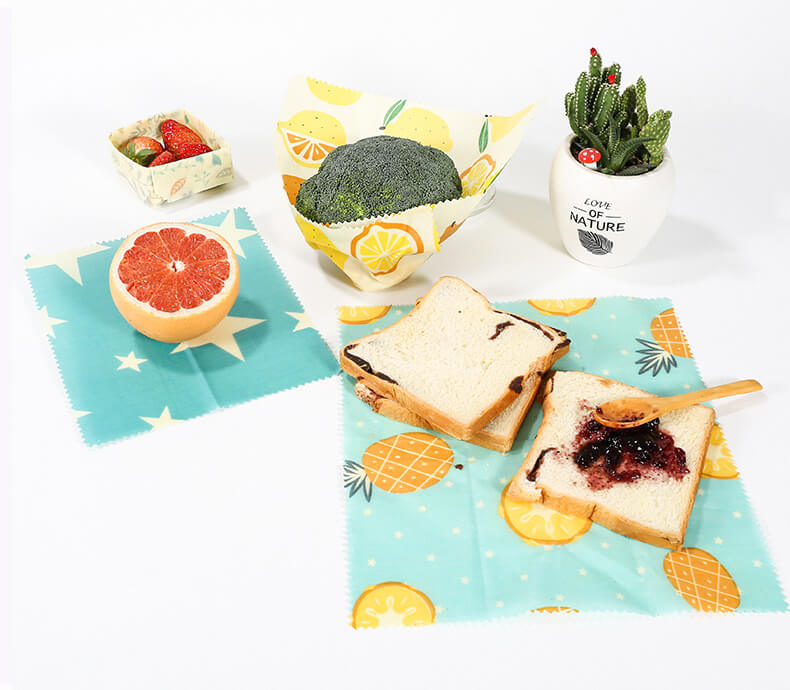 Organic beeswax food wraps with cute prints