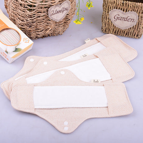 Organic cotton menstrual pad in three different sizes