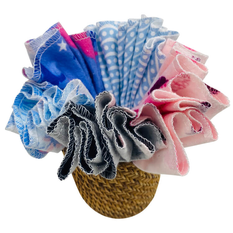 Reusable organic cotton towels