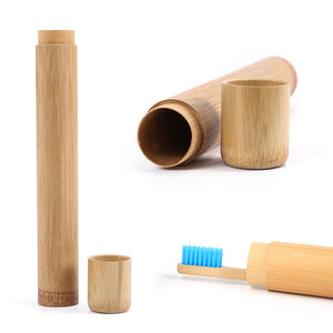 Natural Bamboo Toothbrush Case
