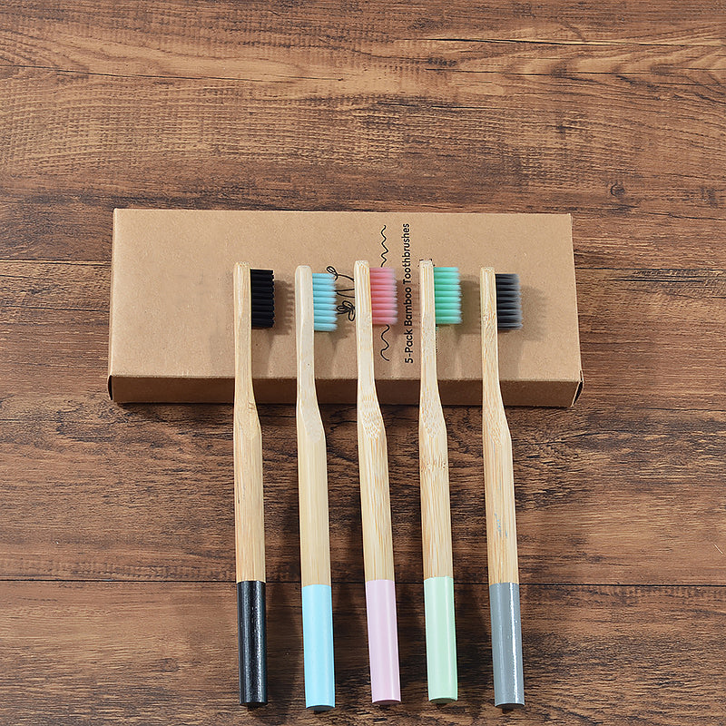 Adult Bamboo Toothbrush - 5pcs/pack