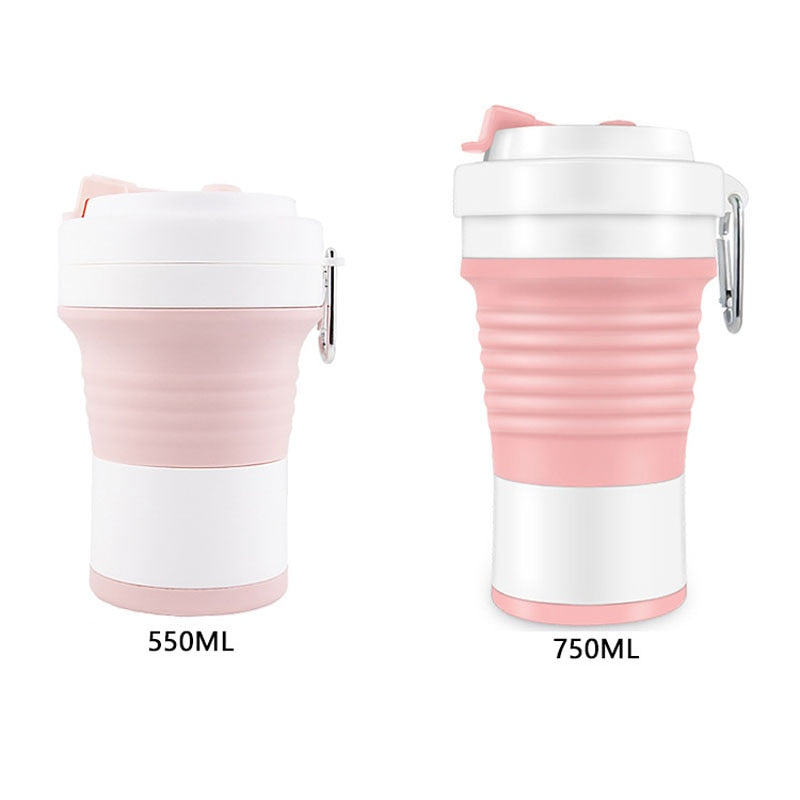 Collapsible silicone cup available in 550ml and 750ml