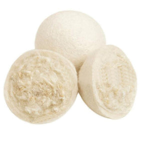 High quality organic wool dryer balls in white