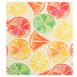 Reusable beeswax food wraps with watermelon pattern