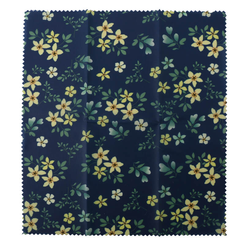 Reusable beeswax food wraps with yellow flowers pattern