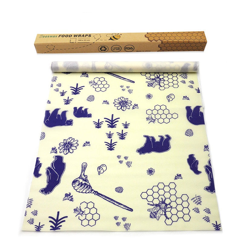 Reusable beeswax food wrap roll, color XHY-08