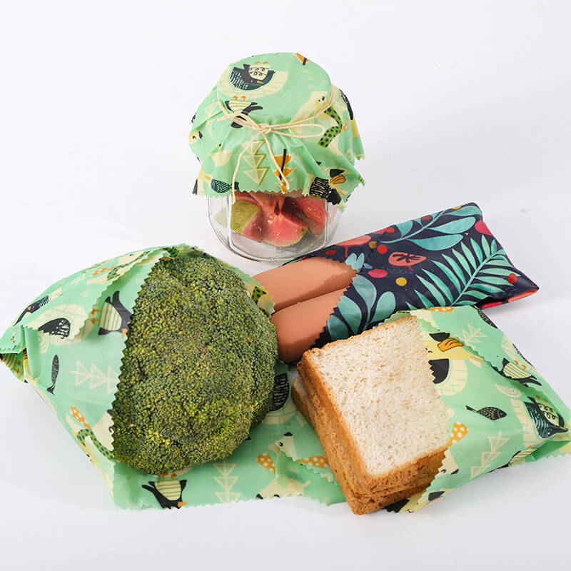 Buy reusable beeswax food wrap variety pack