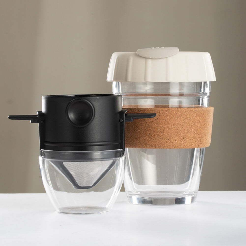 340ml Reusable Coffee Cup with Foldable Coffee Filter