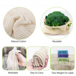 The main features of the reusable cotton mesh bag