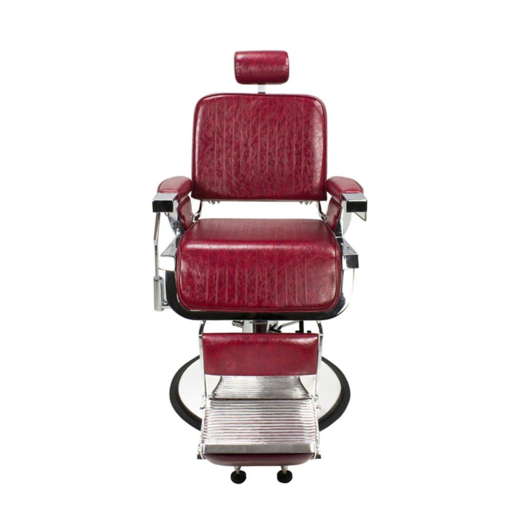 AYC Lincoln Barber Chair Crimson Red