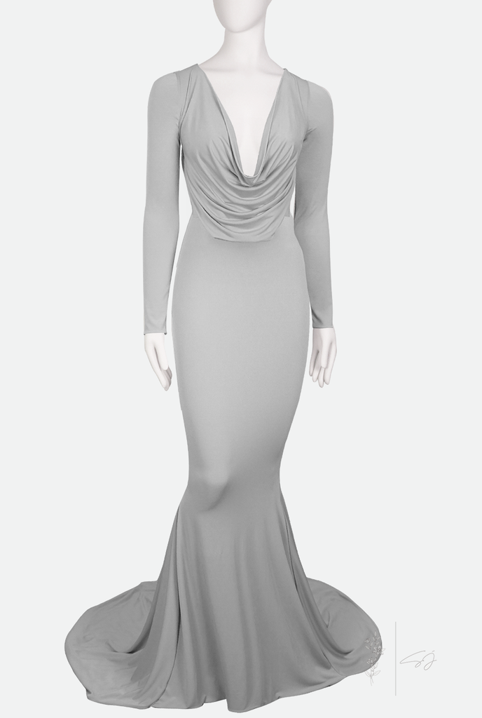 DEMETER ✶ LONG SLEEVE ✶ FISHTAIL GOWN WITH TRAIN