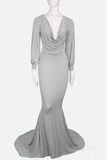 DEMETER ✶ PUFF SLEEVE ✶ FISHTAIL GOWN WITH TRAIN
