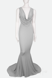 DEMETER ✶ FISHTAIL GOWN WITH TRAIN