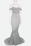 ELLA ✶ FISHTAIL GOWN WITH TRAIN