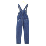 net red denim jumpsuit
