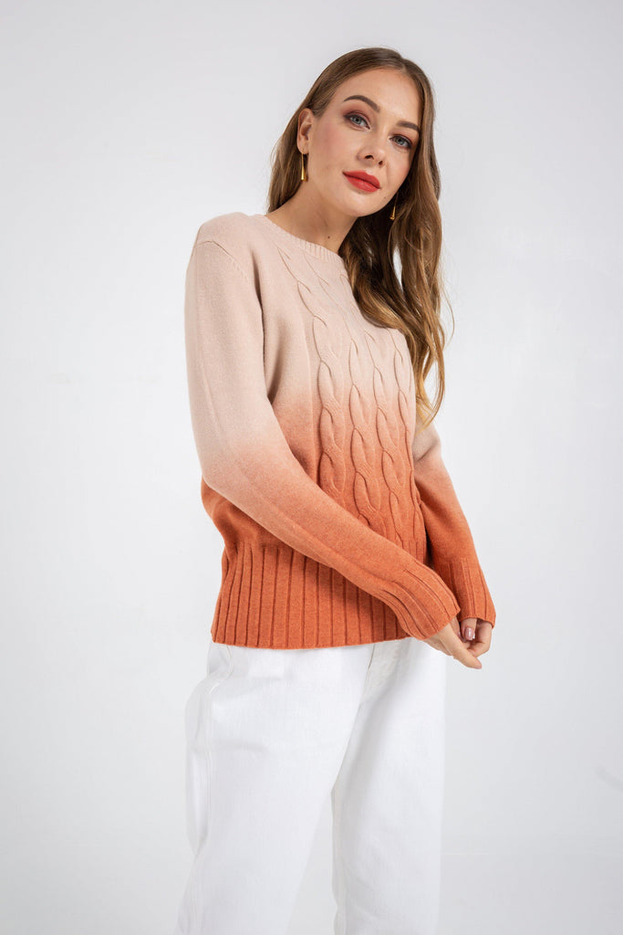 Dip Dye Knitted Sweater