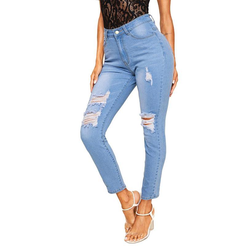 High Waist Pencil Jeans - The Woman Concept