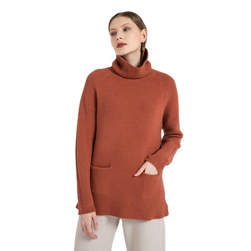Turtle Neck Pocket Pullover