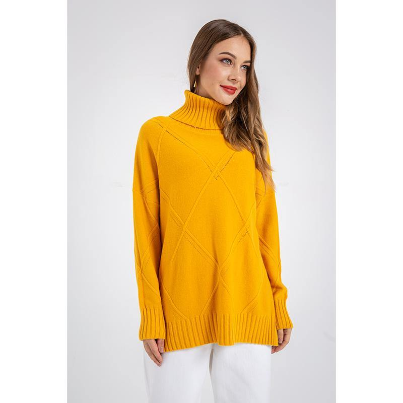Turtle Neck Loose Long Sleeve Sweater