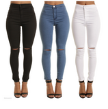Thin Knee Holes And Feet Casual Pants