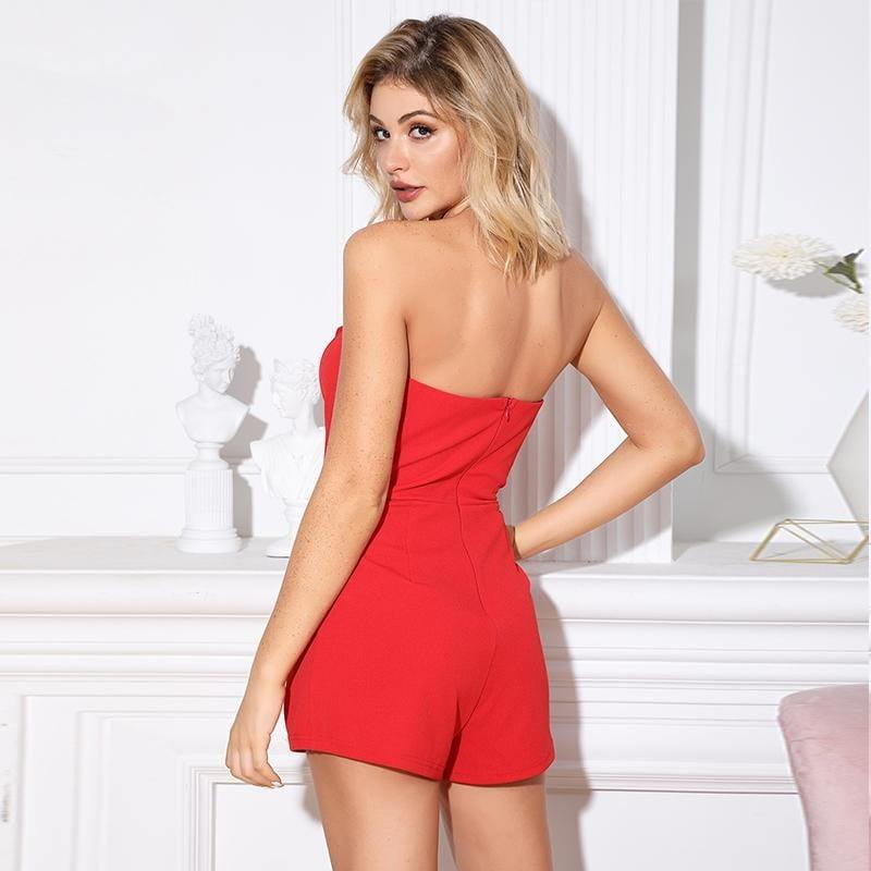 Party Club Off Shoulder Bodycon Jumpsuit - the woman concept