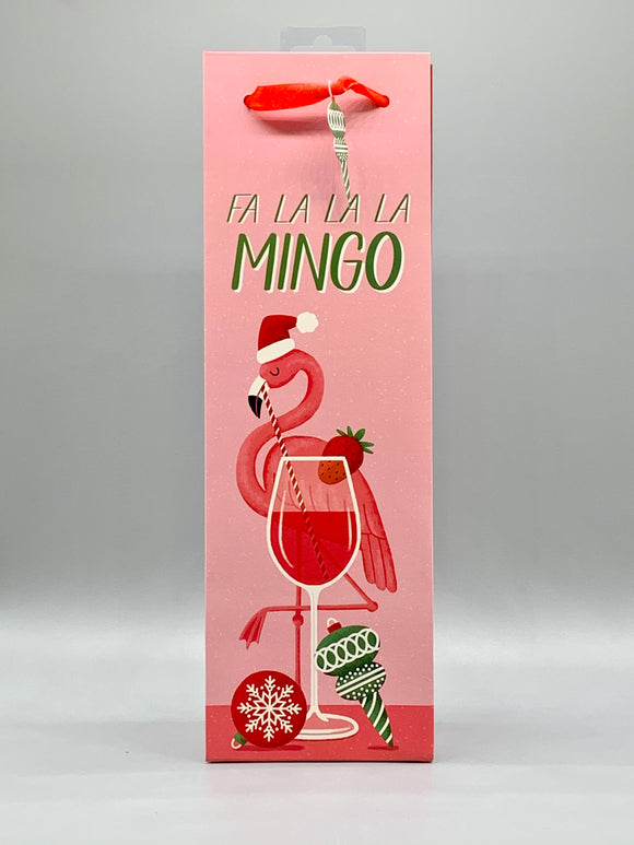 Flamingo Holiday Gift Bag