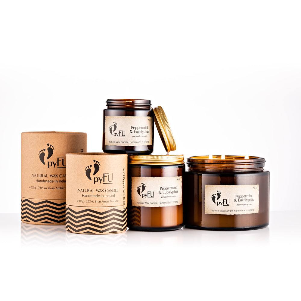 Natural Wax Candle - 12 Peppermint & Eucalyptus