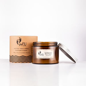Natural Wax Candle - 11 Sandalwood & Black Pepper - pyFU