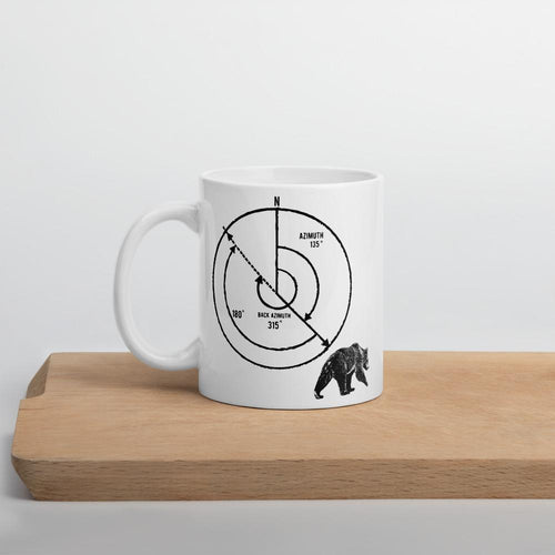 Back Azimuth Bear Mug