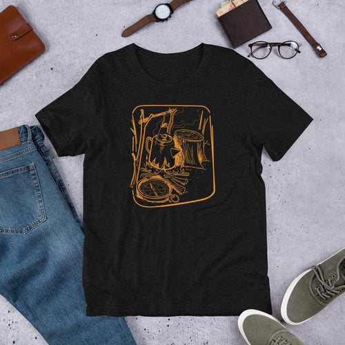 Camp Coffee Percolator and Compass  Shirt