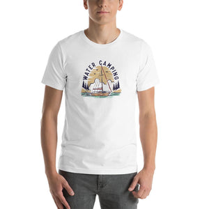 Water Camping-Boat-Short-Sleeve Unisex T-Shirt