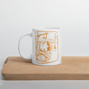 Camp Coffee Percolator and Compass Mug