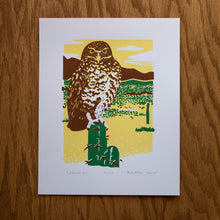 Load image into Gallery viewer, Burrowing Owl Screen Print