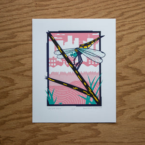 Dragonfly Screen Print