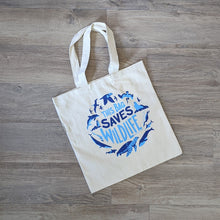 Load image into Gallery viewer, This Bag Saves Wildlife Tote Bag