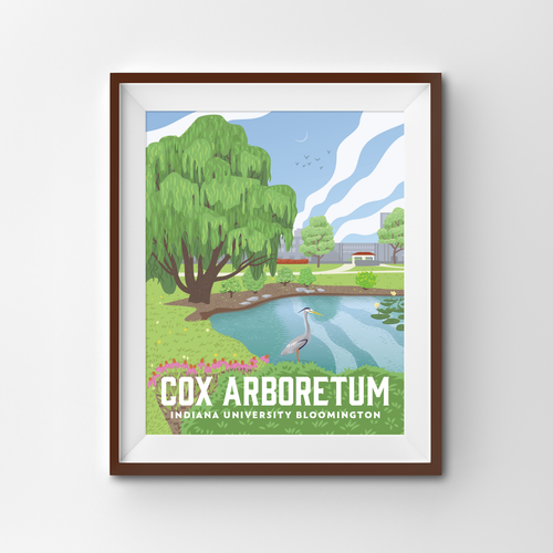 Indiana University Arboretum Art Print