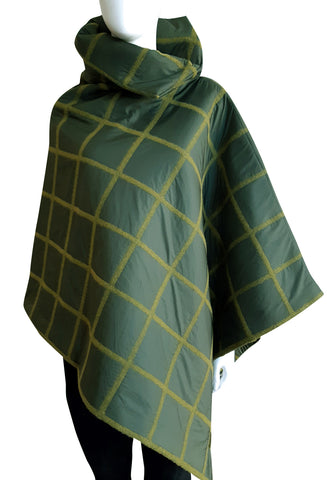The Esme Poncho - Puffer Green
