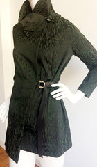 The Esme Fitted Jacket ~ Black and Green Leopard