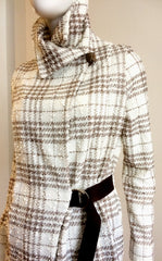 The Fitted Jacket ~ Cream and Taupe Plaid