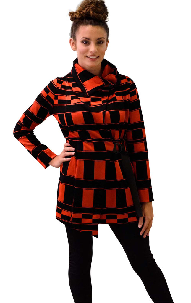 The Fitted Jacket ~ Red and Black Checkers