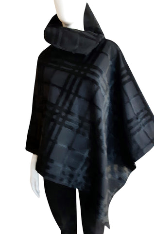 The Esme Poncho ~ Italian Black