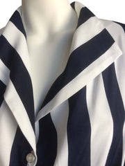 Esme Blouse ~ Navy and White