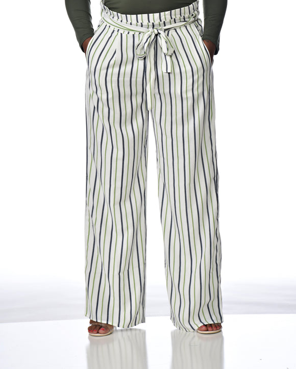 Green Stripe Slacks