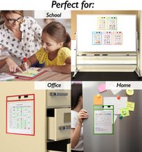 Load image into Gallery viewer, Magnetic Dry Erase Pockets (10-Pack Color)