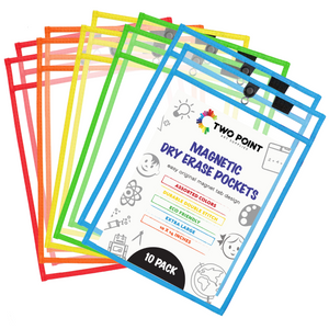 Magnetic Dry Erase Pockets (10-Pack Color)
