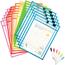 Load image into Gallery viewer, Magnetic Dry Erase Pockets (30 pack + 30 markers)