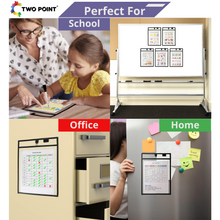 Load image into Gallery viewer, Magnetic Dry Erase Pockets (30-Pack)
