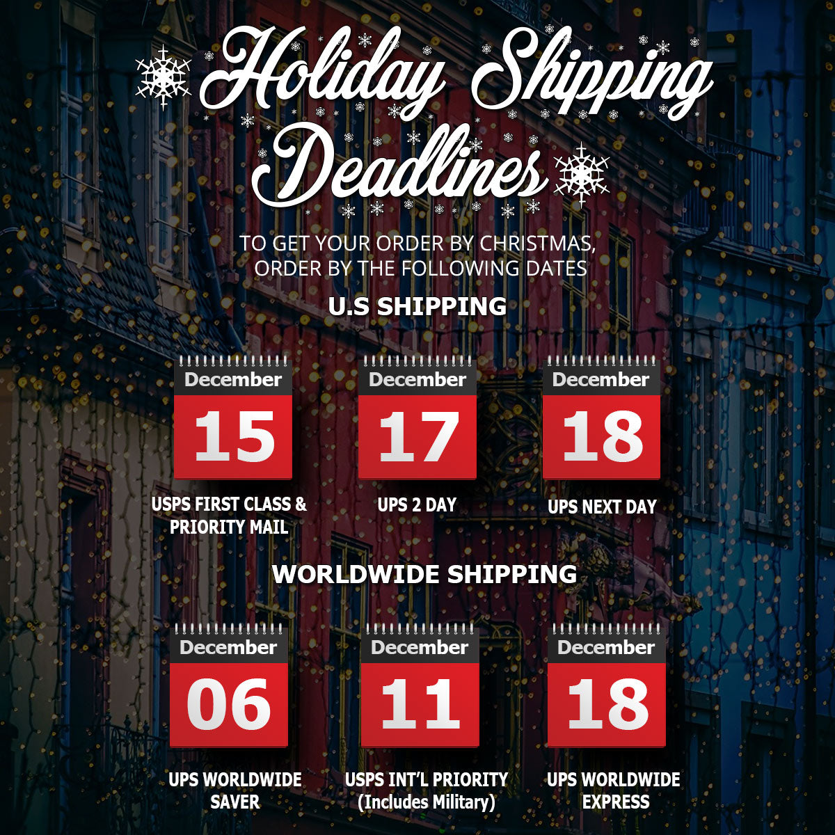 Kendama USA - 2020 Holiday Shipping Schedule Chart - Get it By Christmas