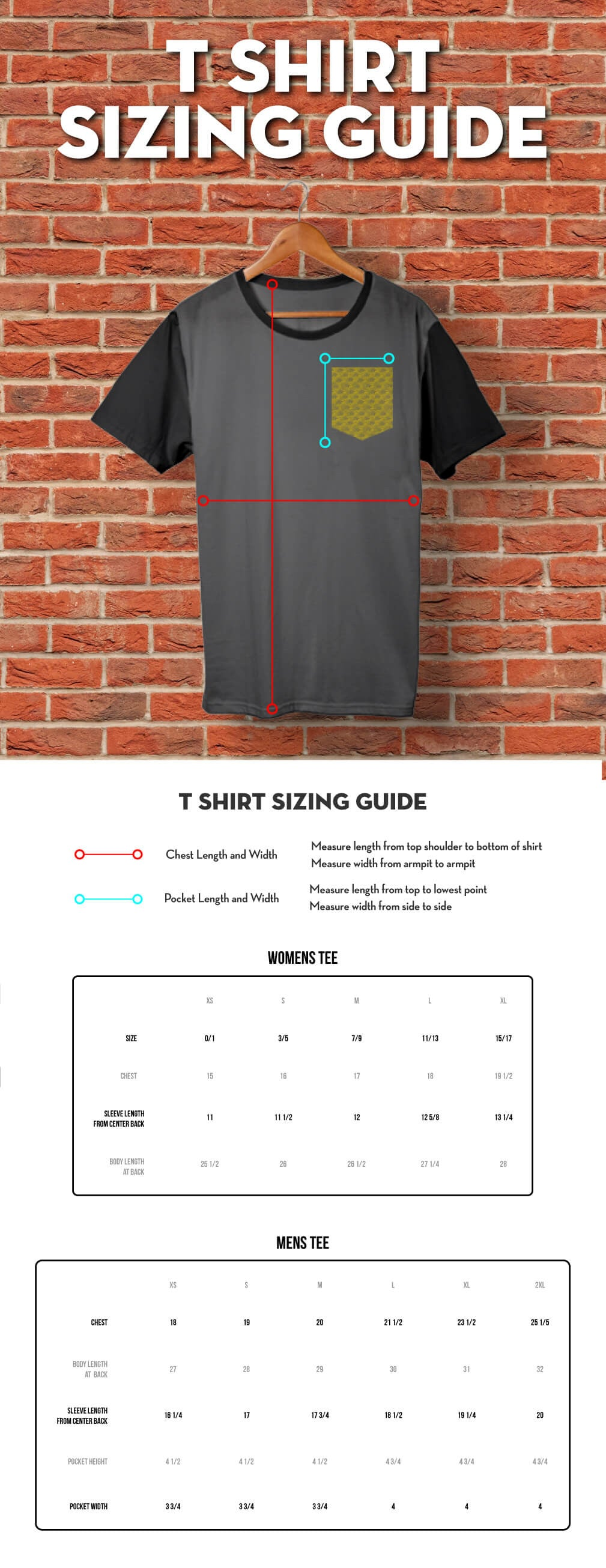 Kendama USA Apparel Sizing Guide